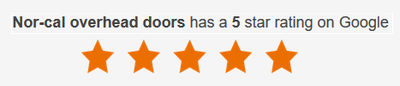 Nor-Cal Overhead Doors has a 5-star rating on Google